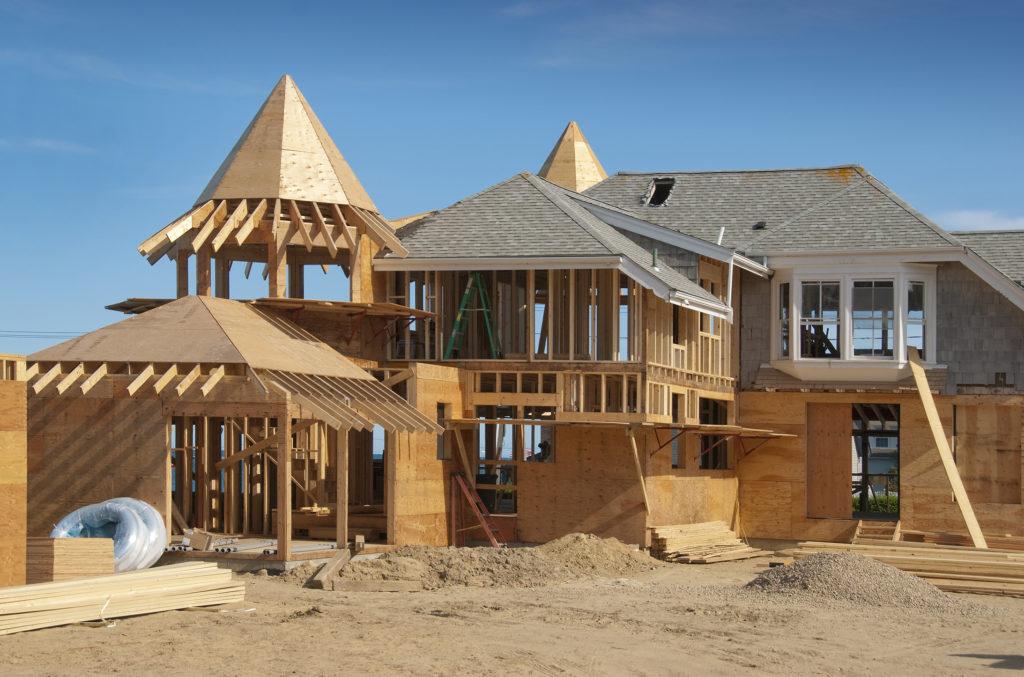 custom home being built
